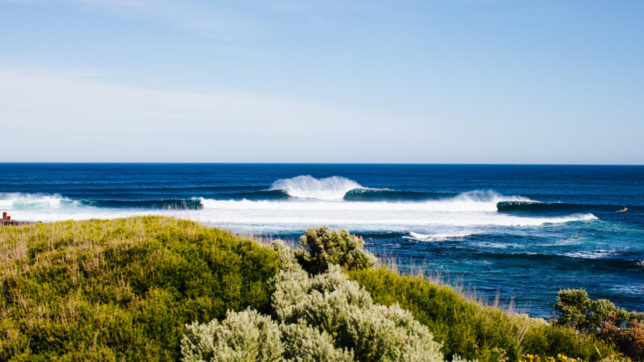 A dreamy Margaret River Main Break lineup like this is what competitors will be hoping for this September - October. - WSL / MATT DUNBAR